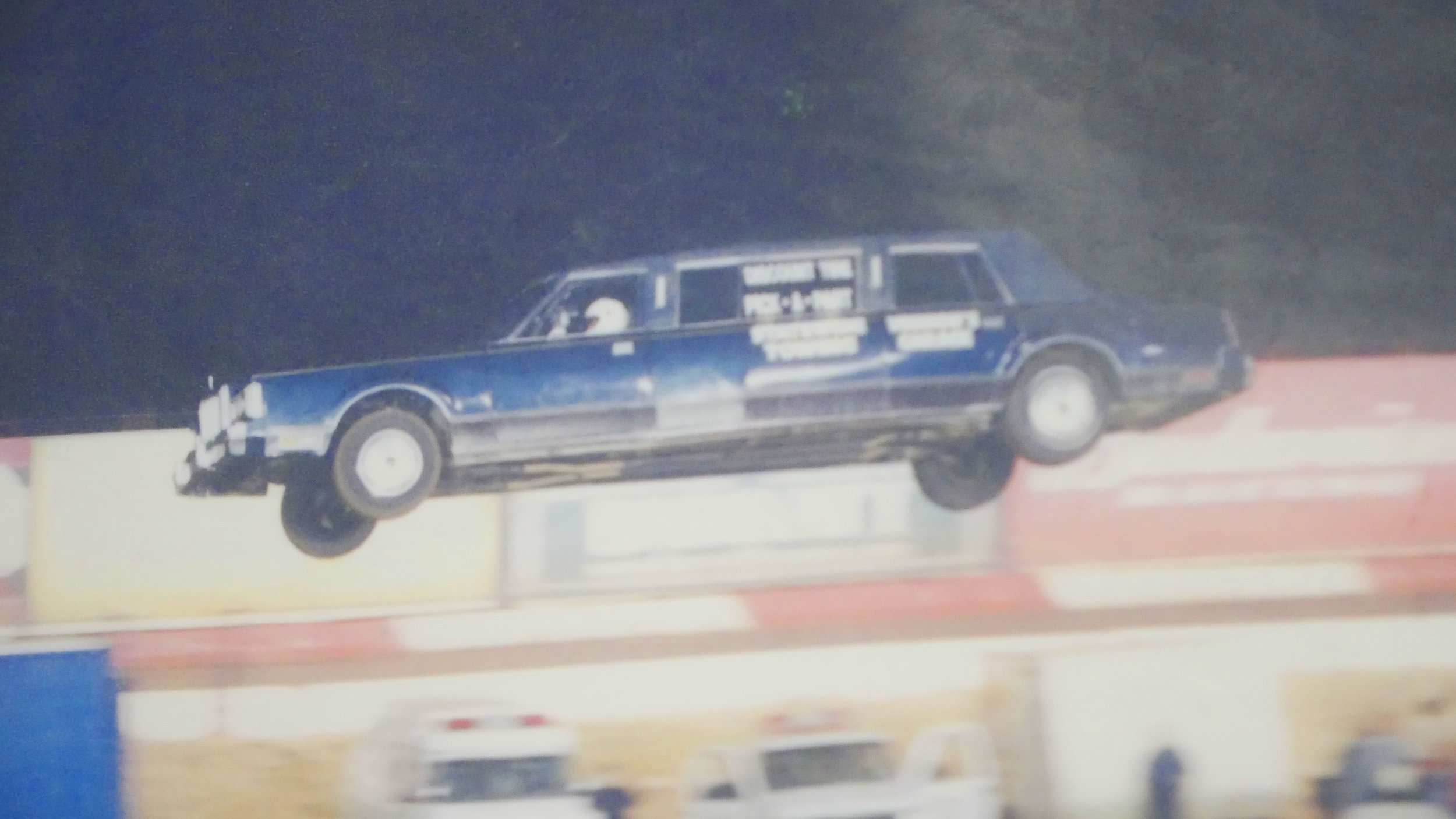 'Mad Mike's' World record limo jump in Perris, CA, 2002.