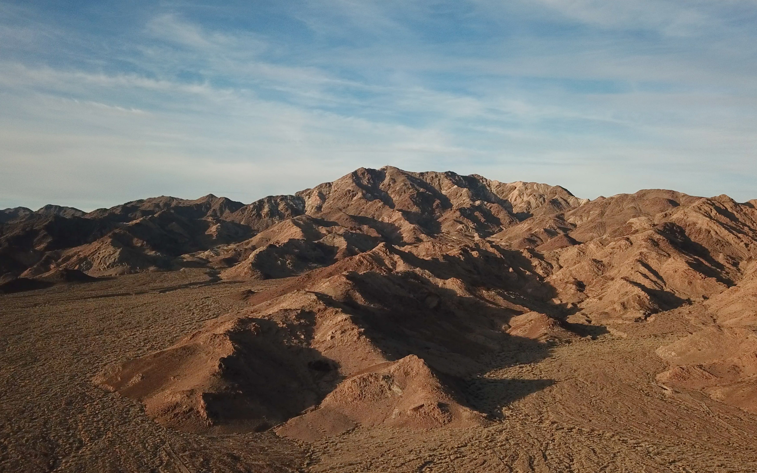 The California desert mountains outside of Amboy.