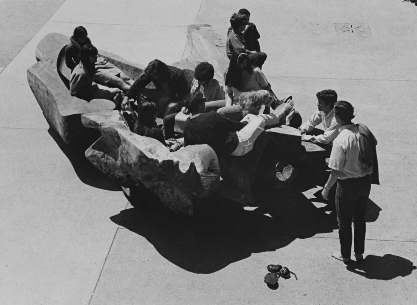 Santa Cruz (Blunk's Hunk) , 1968  Redwood  180 x 120 x 60 inches  457.2 x 304.8 x 386.08 cm