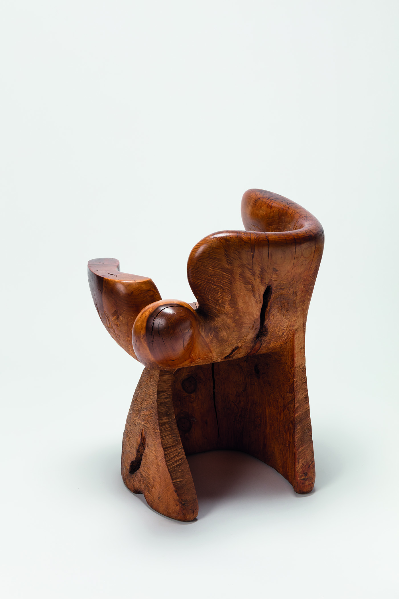 Untitled , 1973–74  Cypress  31 x 23 x 22 inches  78.74 x 58.42 x 55.88 cm  Collection Gordon Ashby