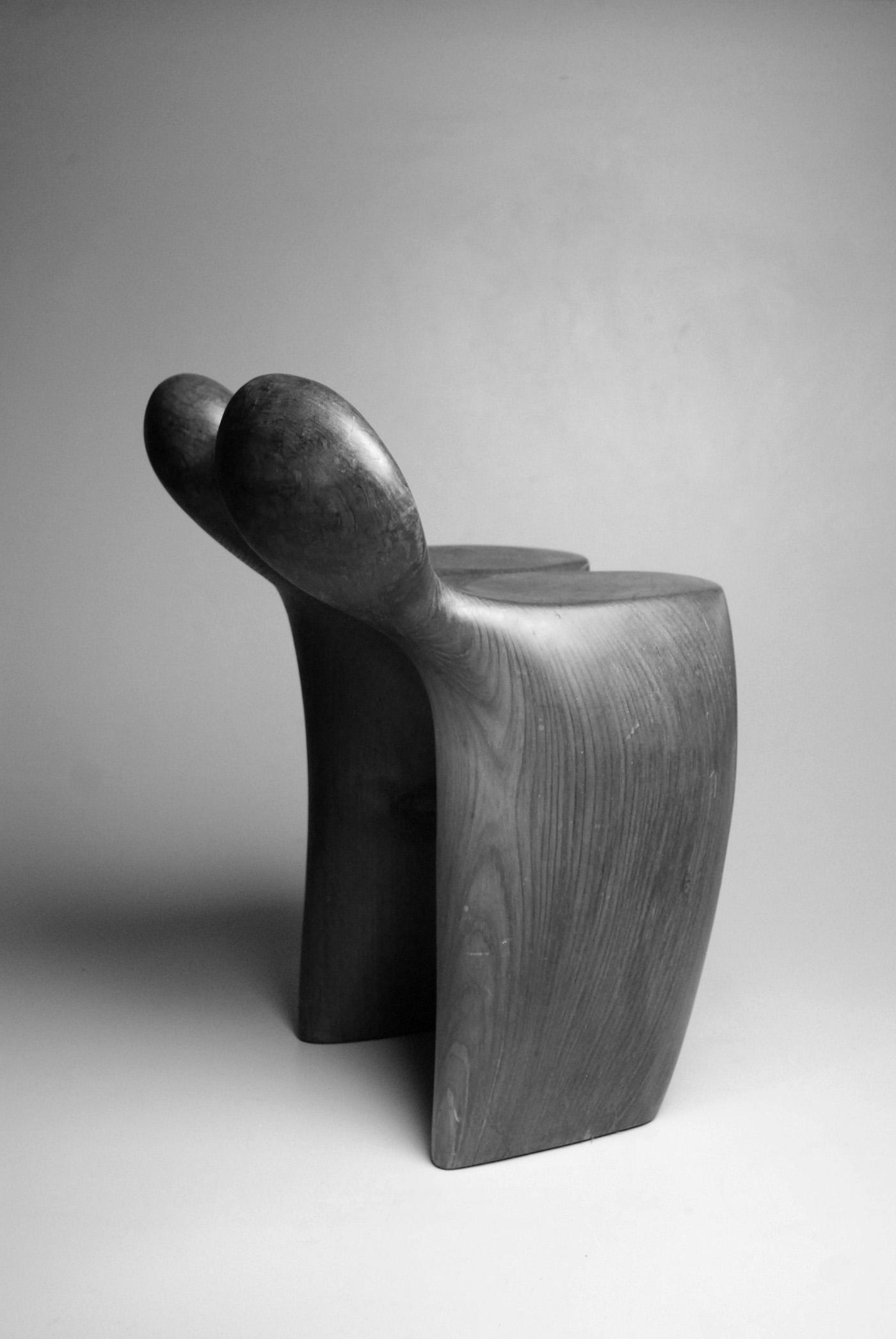 Untitled , 1980  Redwood  23 1/2 x 17 x 16 1/2 inches  59.69 x 43.18 x 41.91 cm