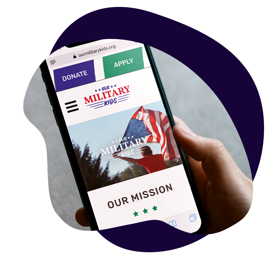 Website & Brand Team: Modern, Mobile-First Website and Branding Refresh - Our Military KidsDesignDevelopmentAnimation