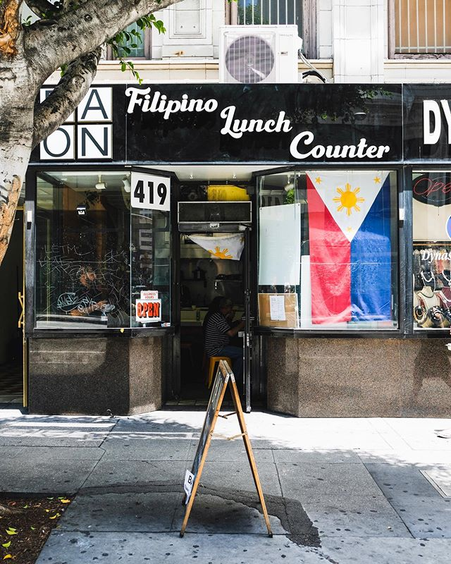 WE'RE OPEN THIS SATURDAY 12PM-5PM! Our new weekend hours are every first Saturday of the month! Come through the Jewelry District of DTLA and look out for our flag 🇵🇭 ! We'll be cooking up Baon favorites like Sinigang Lumpia and pork belly adobo, as well as some specials announced on our stories! See y'all soon! #eatyourbaon