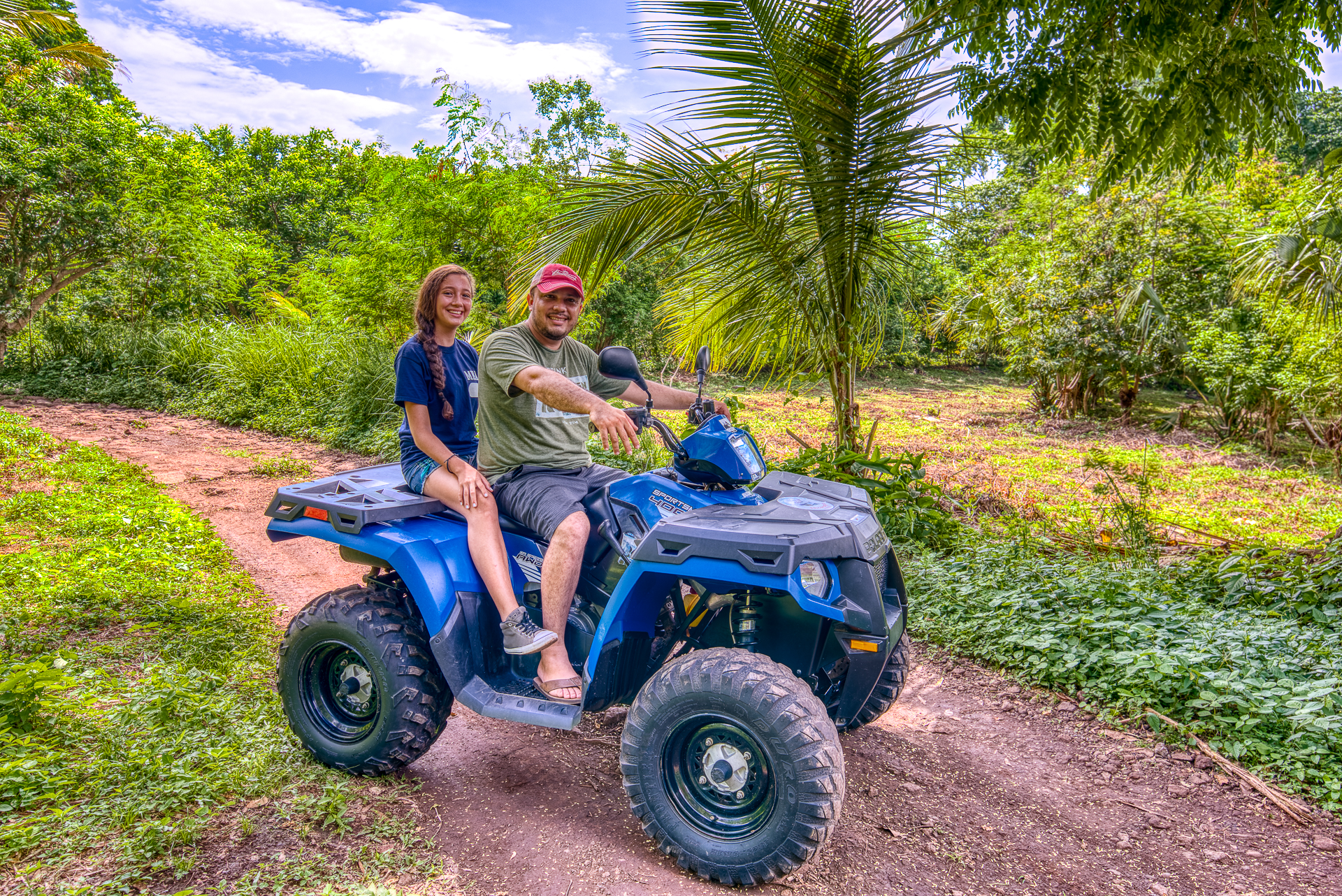 Arrive in style - Quad biking ATV four wheelers on Ometepe Island delivered to Bambouserie Jungle Cabins