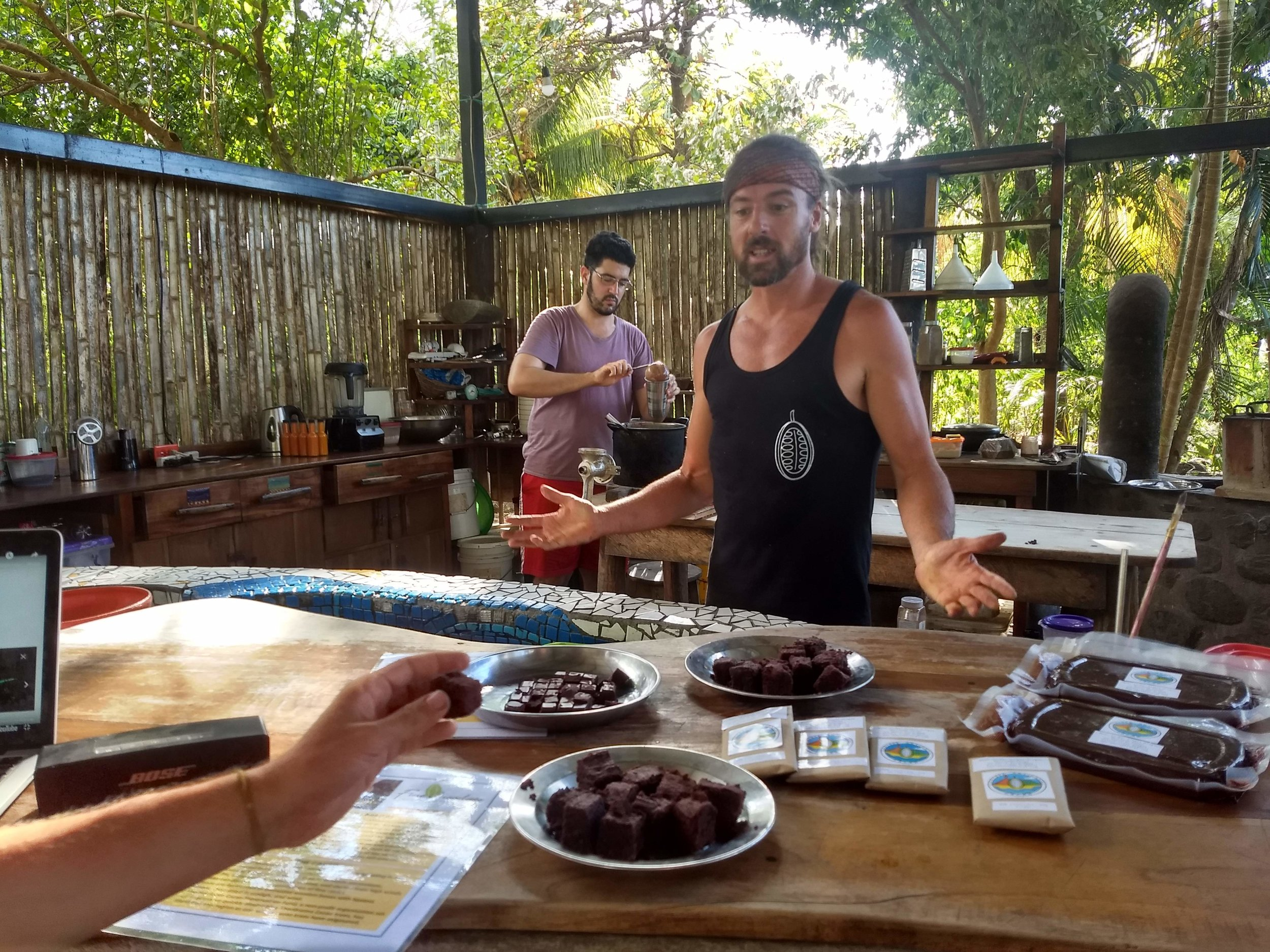 chocolate making introduction - permaculture design and principles Central America Isla Ometepe 2020