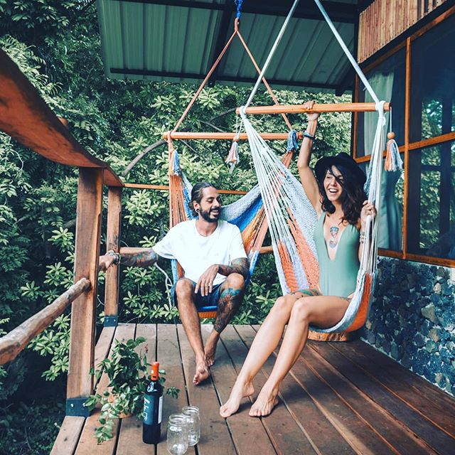 Just what green season afternoons at the base of a dormant volcano were made for! . Tag someone you'd like to open a bottle with in these hammocks. 🍷 . . . . #bambouseraie_ometepe  #ometepeisland  #flashpackers #ometepenicaragua  #centralamericantravel #backpackerscentralamerica  #backpackerscentroamerica  #islandlife  #islaometepe  #centralamerica  #travelnicaragua  #nicaraguantraveler  #junglecabinsometepe  #volcanomaderas  #volcanoconcepcion  #volcanotrails  #couplegoals #romanticdestinations  #romanticdestinationsinamerica  #honeymoonsuite  #junglecabins  #cabinlife  #cabinsandcuties #hammocktime #wineoclock #its5oclocksomewhere  #experienceometepe  @trip.n.roll