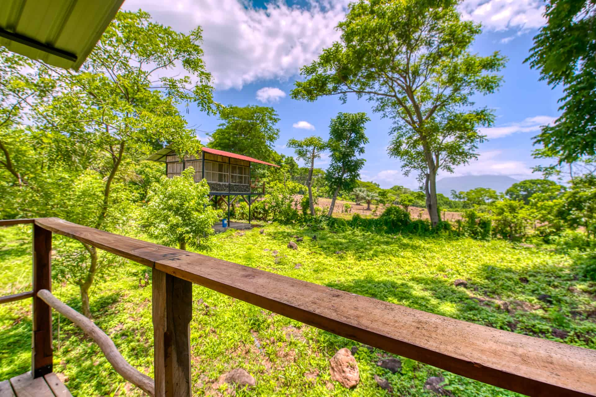Lake views volcano view cabin Ometepe Island accommodation Jungle cabin ometepe Bambouseraie places to stay Nicaragua