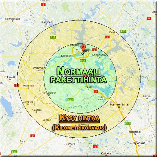Toimialuekartta, Tampere ja Pirkanmaa