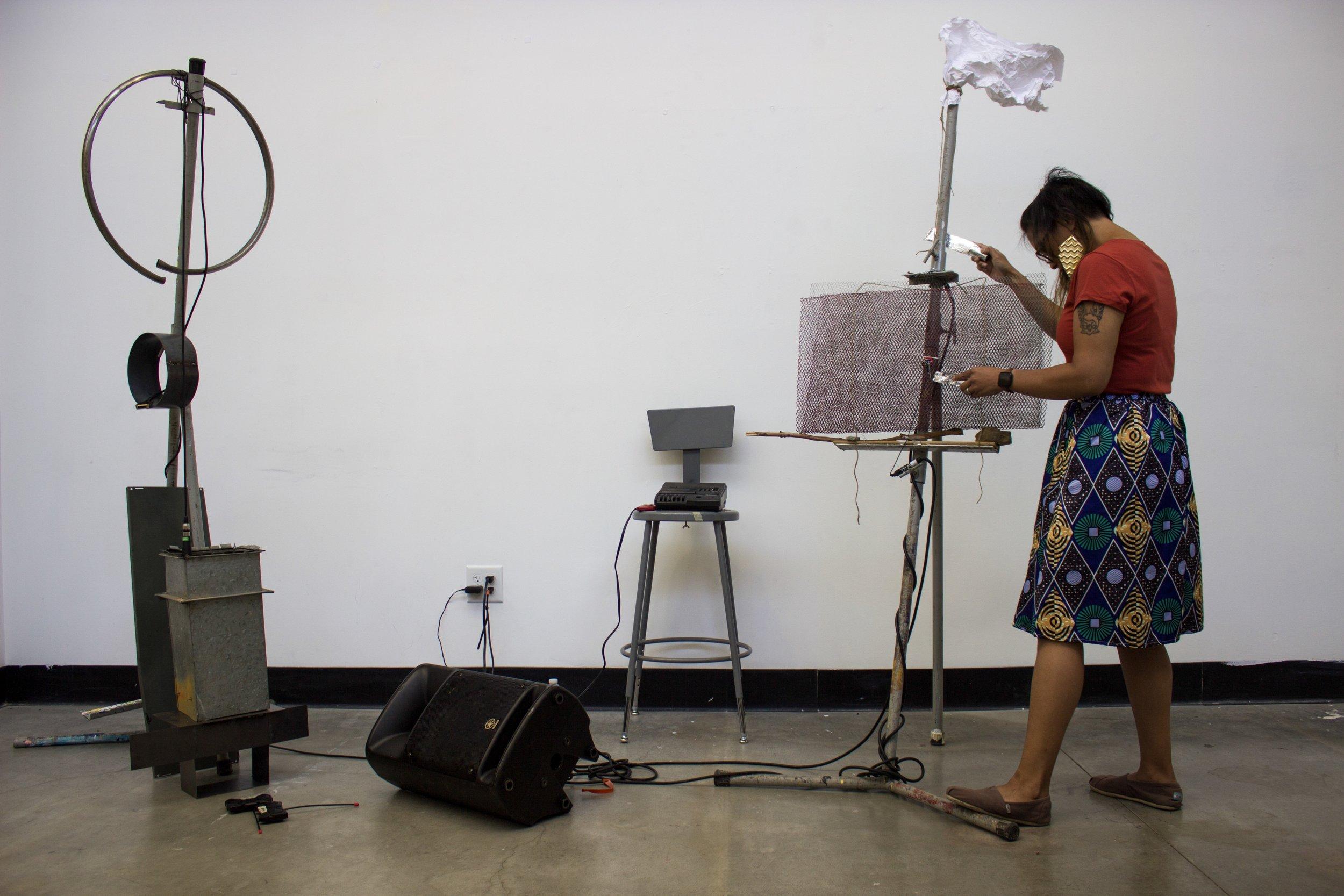 companion sound sculpture performance (2019) at CalArts
