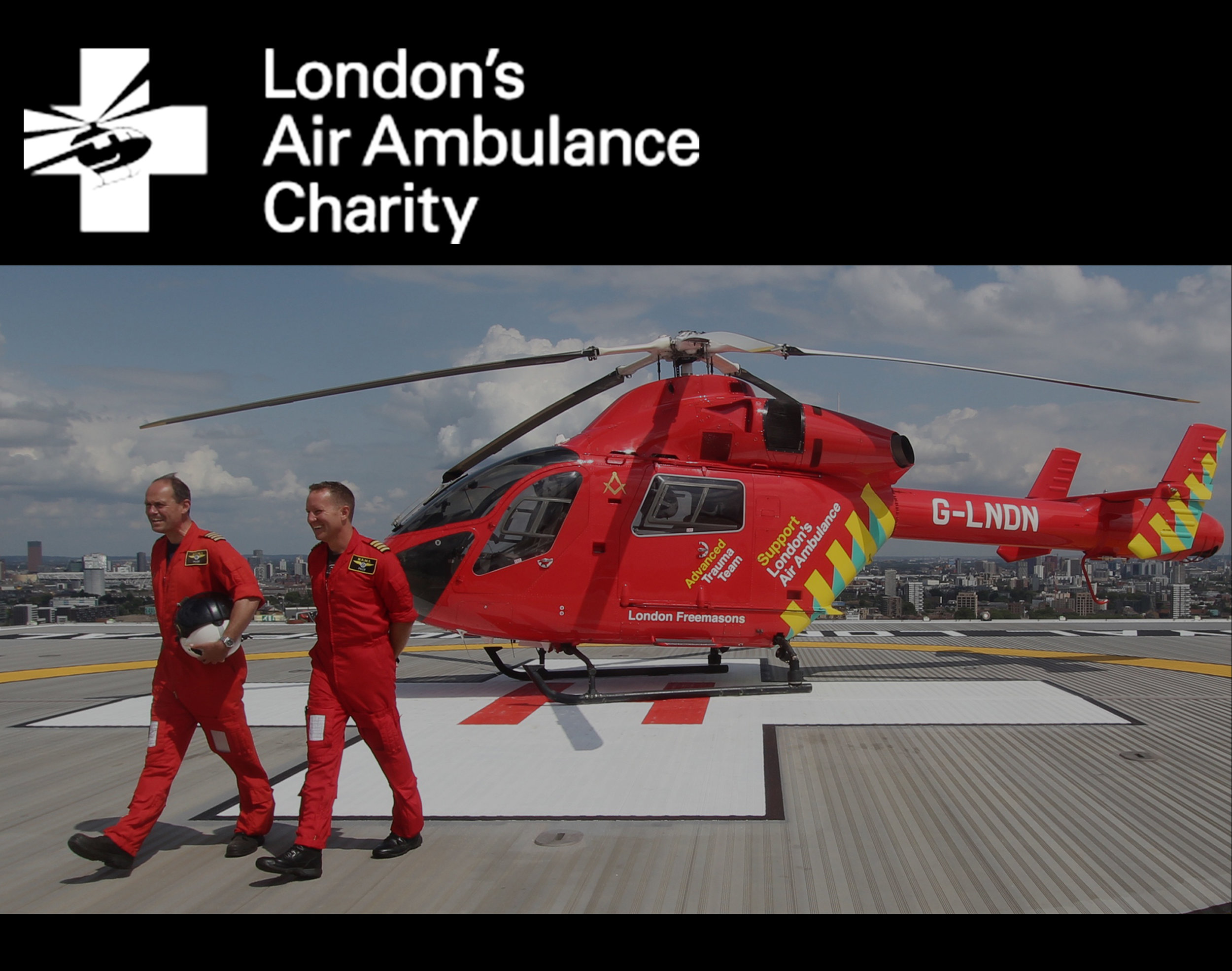 This year we are proud to be raising money for London's Air Ambulance Charity. Please click on the image above for more information about the charity and to donate.