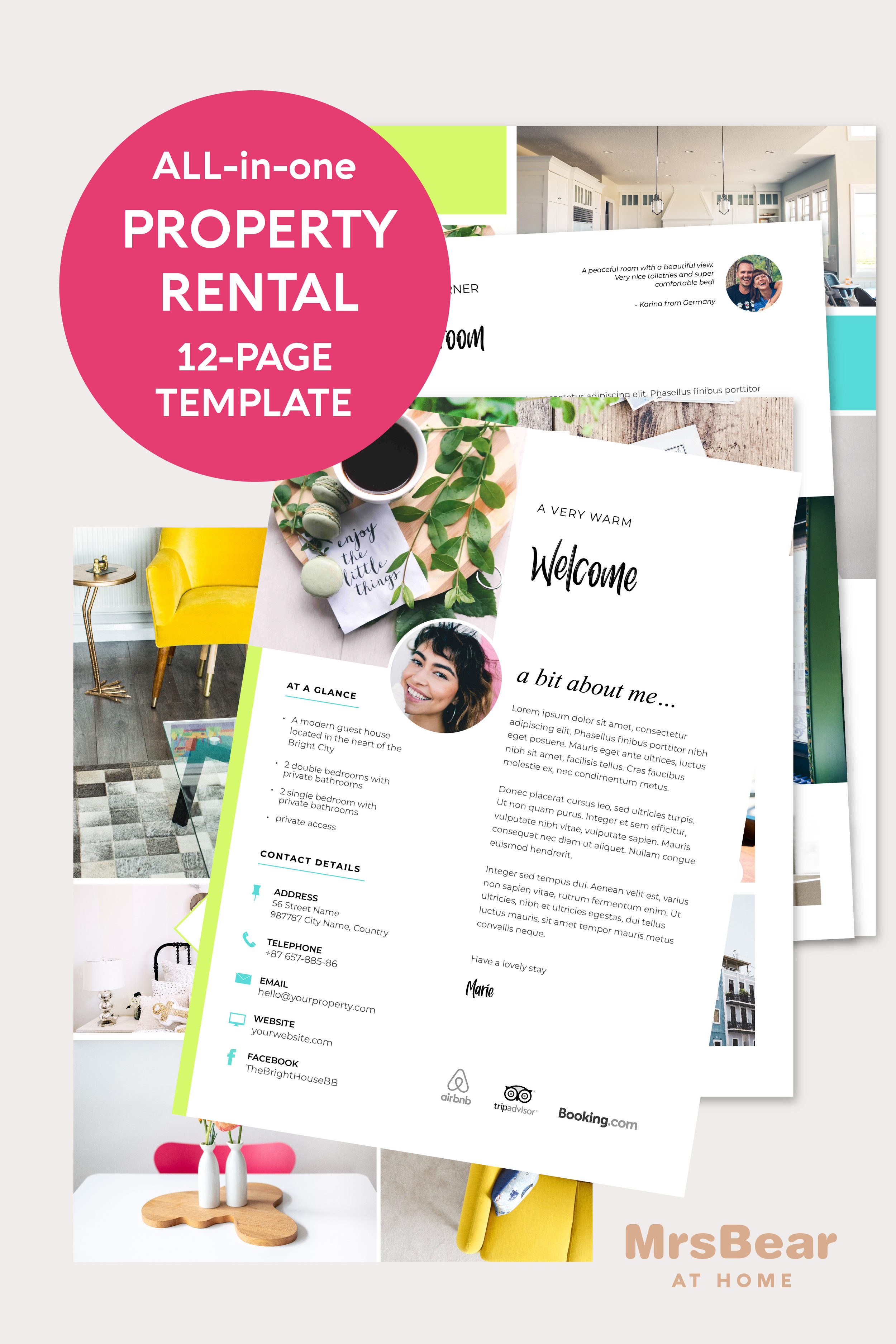airbnb welcome template printable