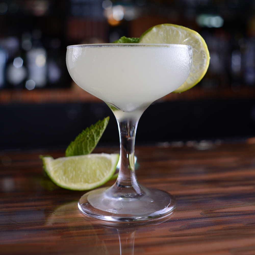 "Southside - Based on a recipe developed by a gangster on Chicago's Southside, who used mint, lime and sugar to disguise the taste of his low-quality, homemade ""hooch."""