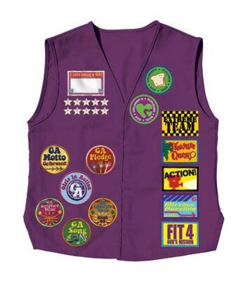 The Girls in Action Vest - This vest is worn by the girls to display their achievement badges and pins.