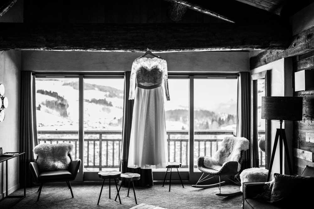 photographe de mariage Megève - a la montagne