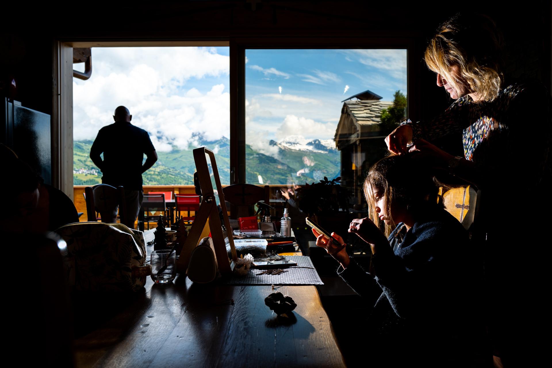 photographe mariage a la montagne - vue mont-blanc