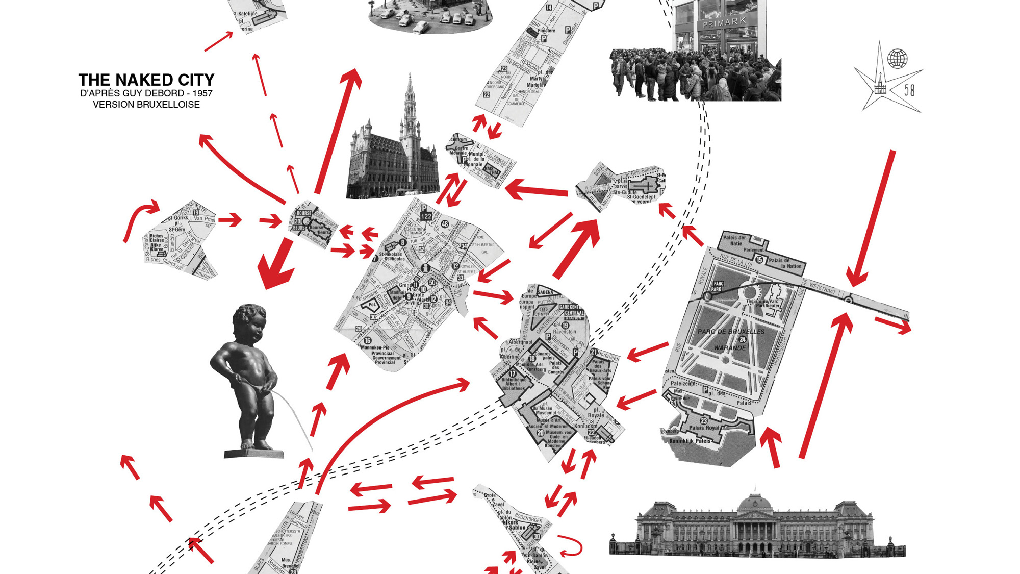 Situationist Guy Debord experimented with mental maps that show the use of cities rather than their geographical configuration.