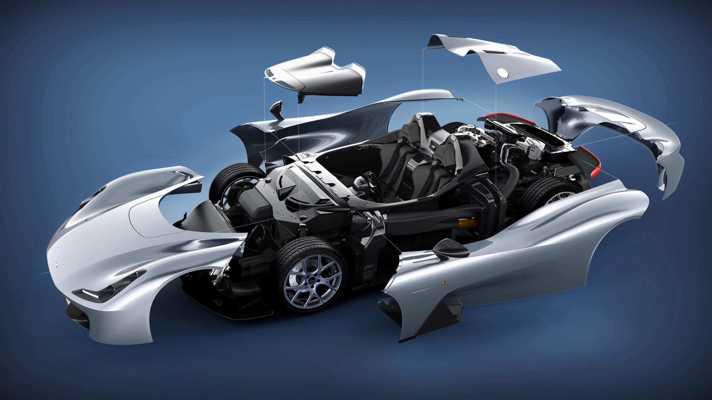 ULTRA LIGHTWEIGHT carbon fiber body ( 855kg )