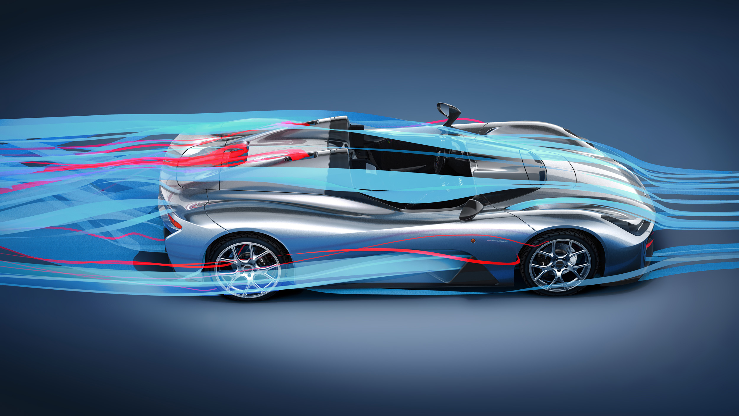 EXTREME AERODYNAMIC efficiency (2.5 ) and downforce ( up to 810kg )