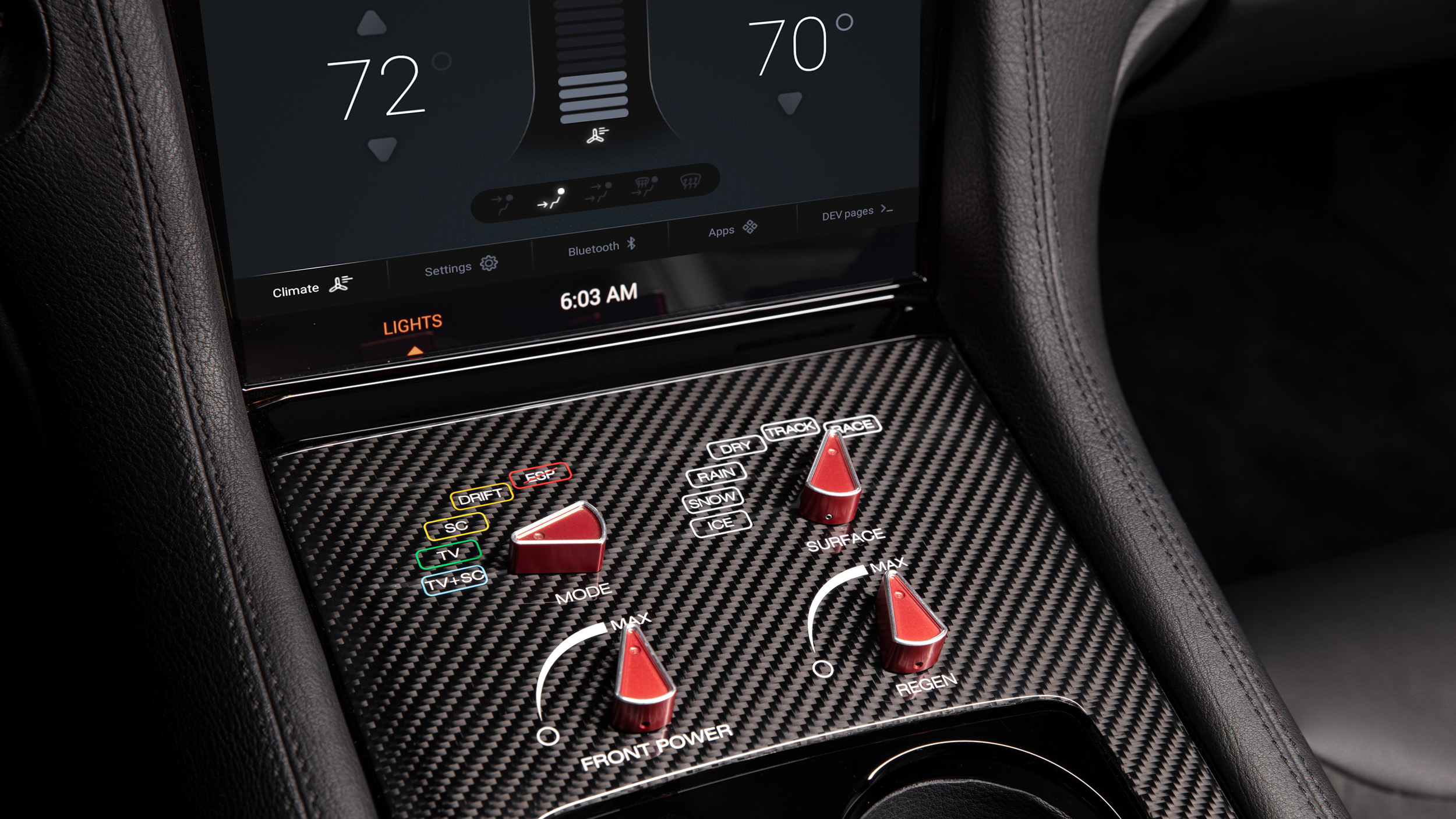the 'Quattro Manettino' allow adapt and personalise the car behaviour