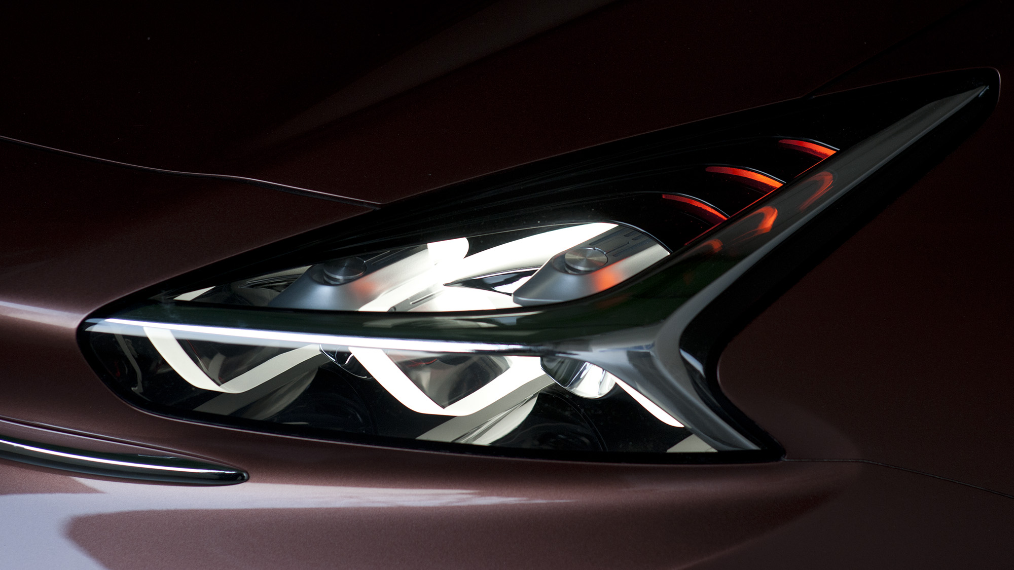 Great attention went into technological detailing such as radar headlamps