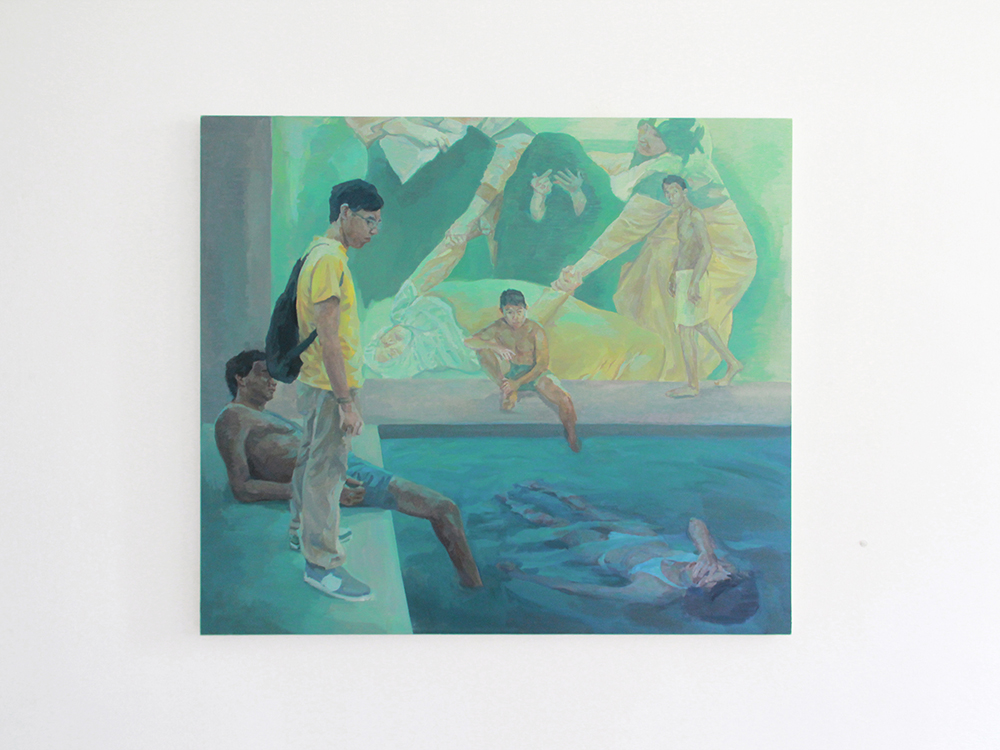 'Poolside' by Jon Chan (Oil on canvas, 90 x 100cm).jpg
