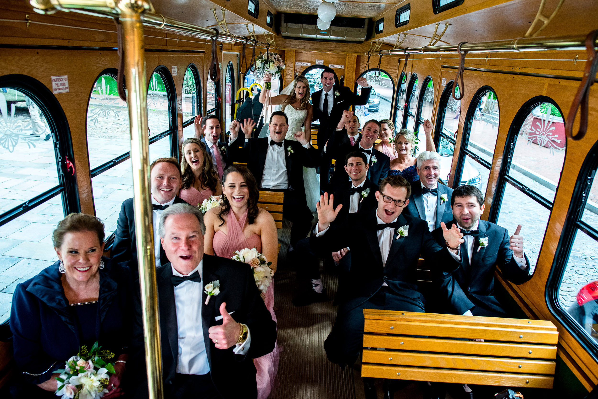 trolley whole bridal party inside @ werthphoto.jpg