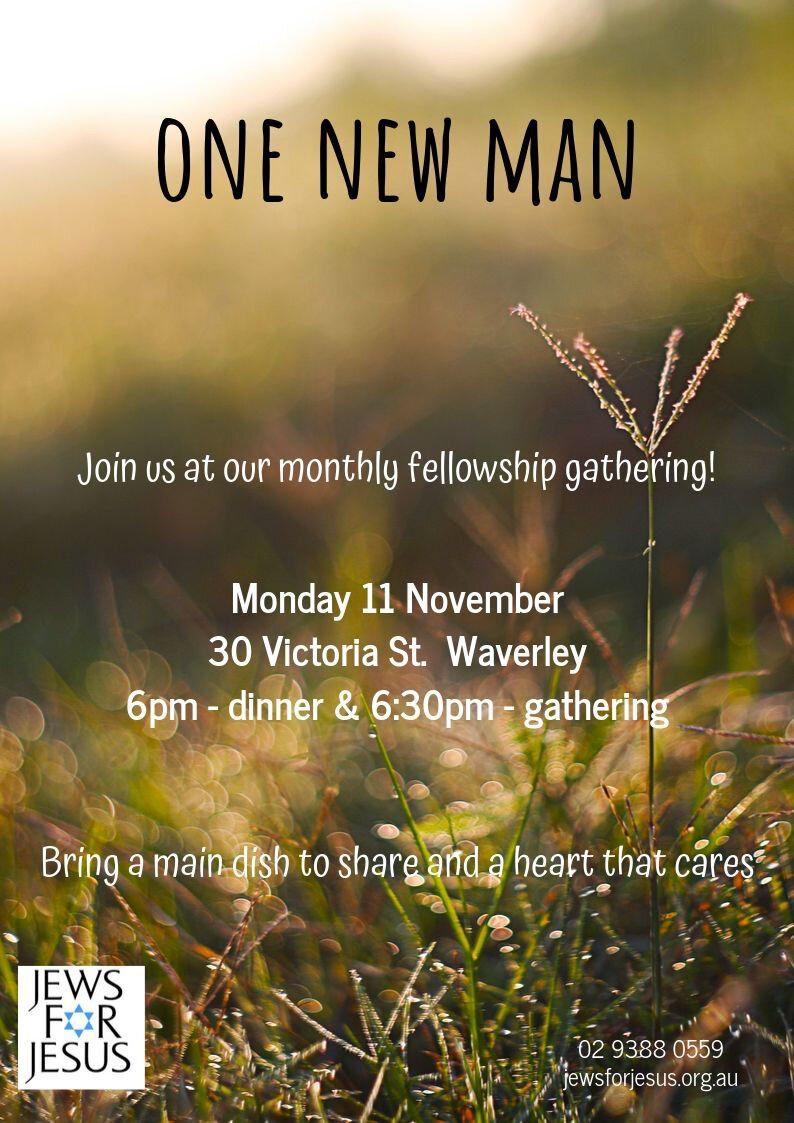 One New Man gathering - Monday, 11 November, 2019