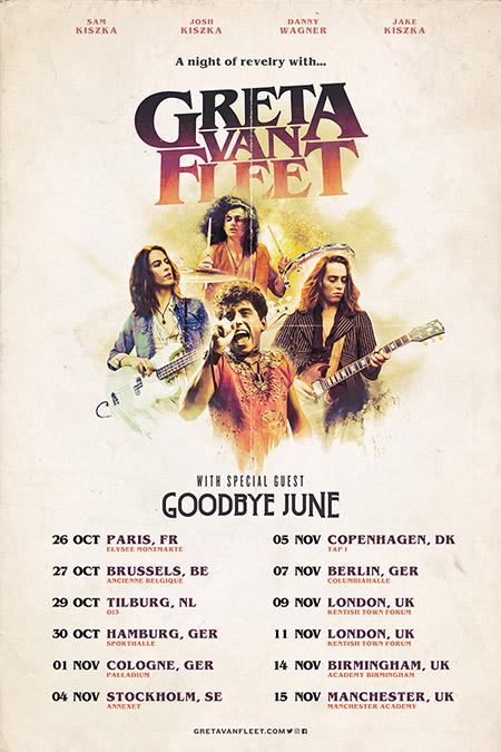 Greta Van Fleet Tour