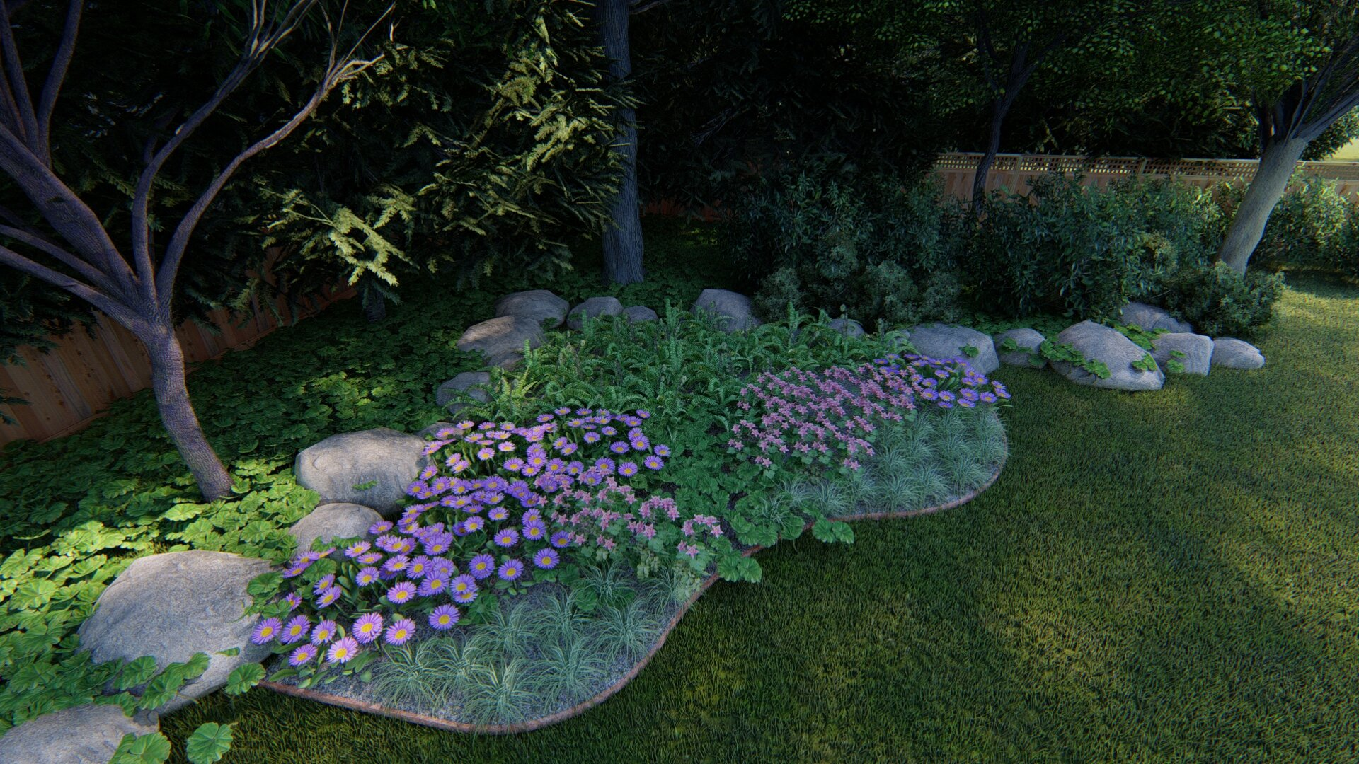 Full Shade Yard Design