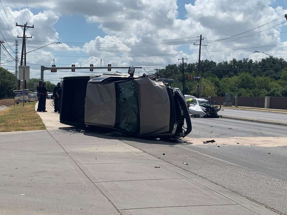 Major accident backs up traffic Thursday on San Antonio's West Side at the intersection of Culebra Road and Old Frisson Road.