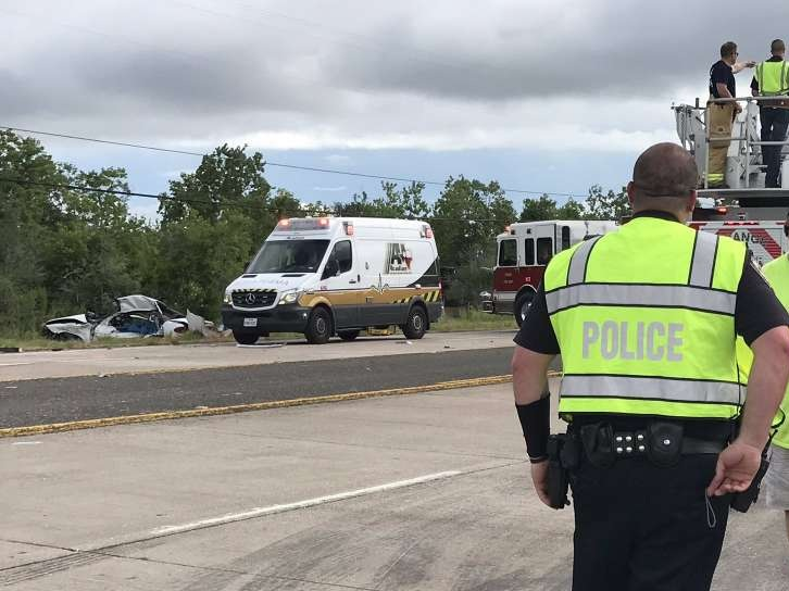 A young couple was killed Friday in a car wreck on Texas 87 on their way back from being married August 23, 2019.