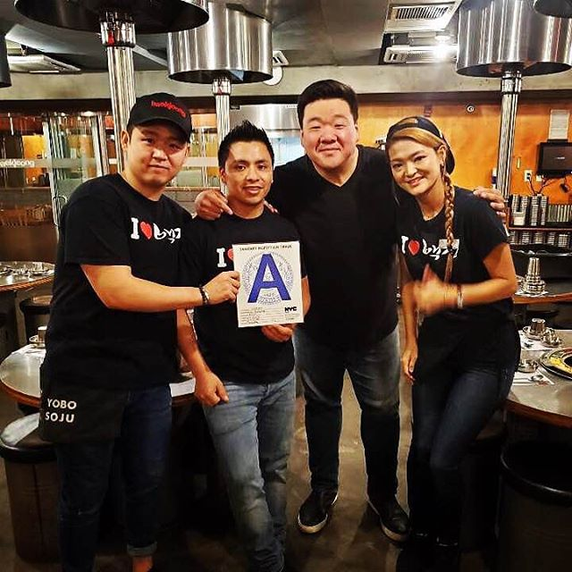 Great food and Great service is something we take pride in but getting an 'A' for our Health Inspection shows how dedicated and amazing our staff is! TGIF! #baekjeongnyc #koreanbbq #kbbq #meat #ktown #koreatownnyc #usdaprime #kimchi #koreanfood