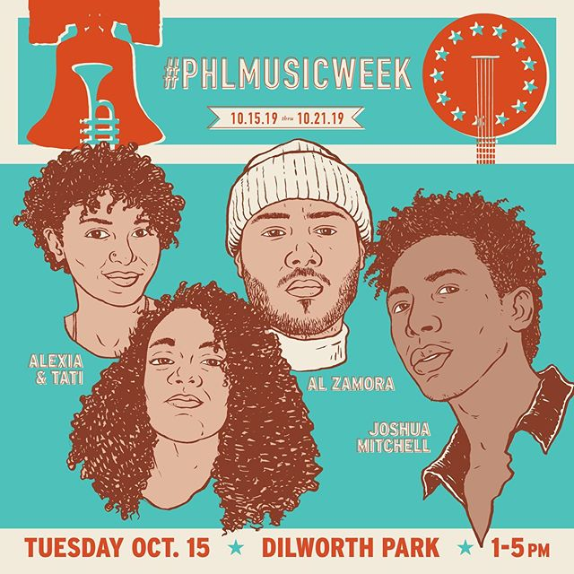 so excited to announce the lineup for our kickoff concert on 10/15 from 1-5pm at dilworth park! joining these #philly musicians from @recphilly at dilworth park is a @curtisinstitute brass ensemble — come out if you're in center city next tuesday! #phlmusicweek #phillymusic