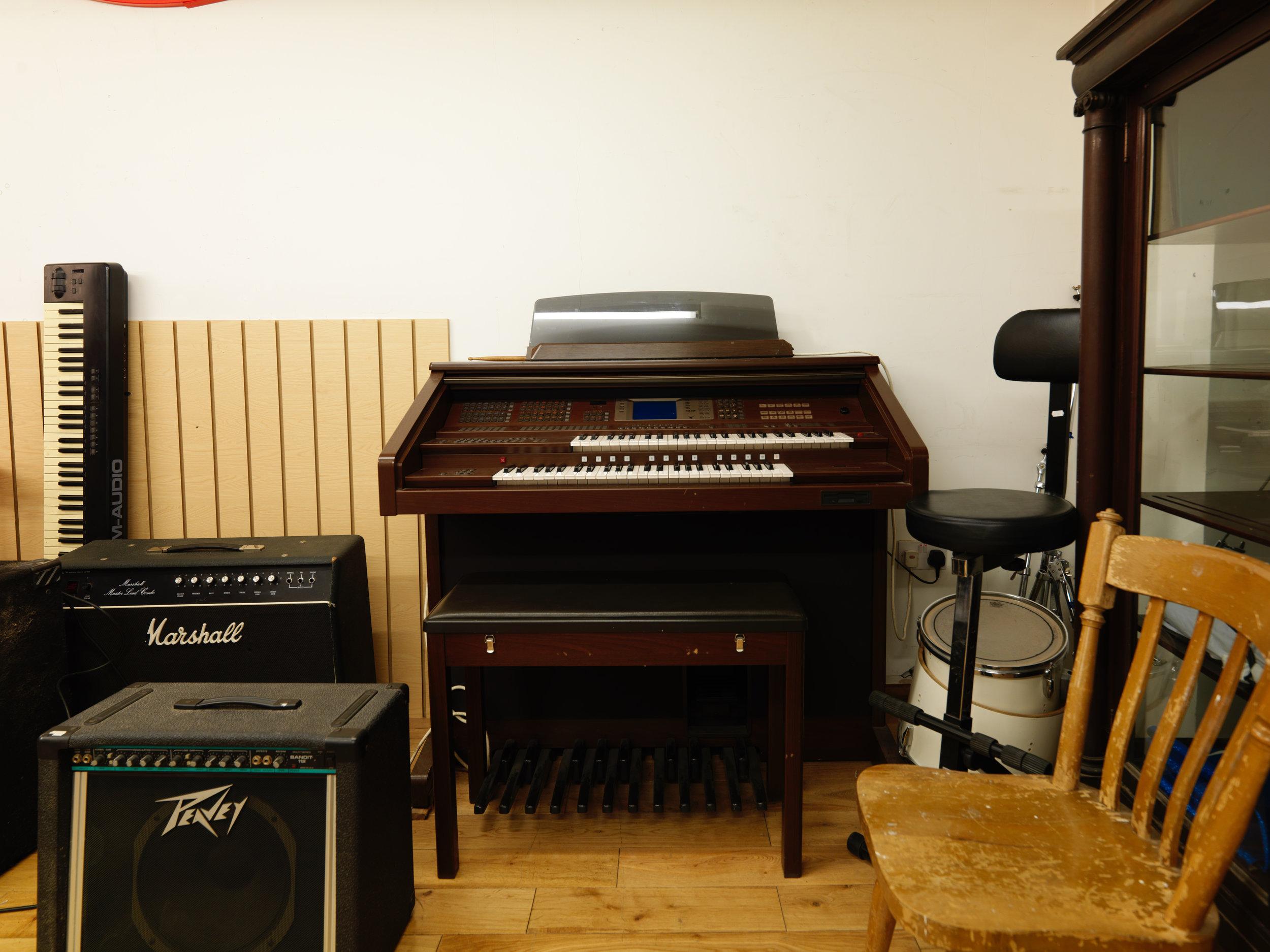 Folkies Music's spacious basement