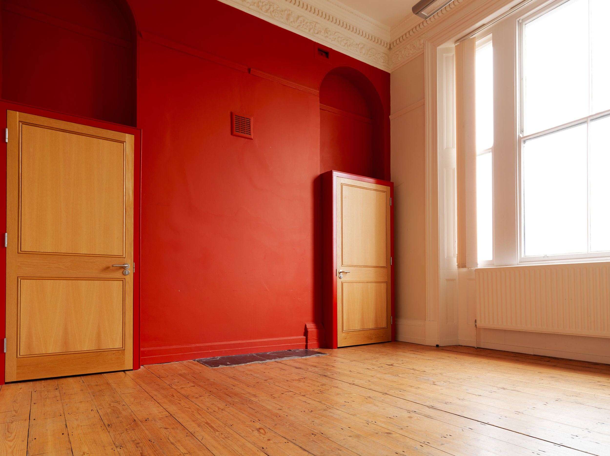 Rehearsal Space in Limehouse, East London (Red Room)