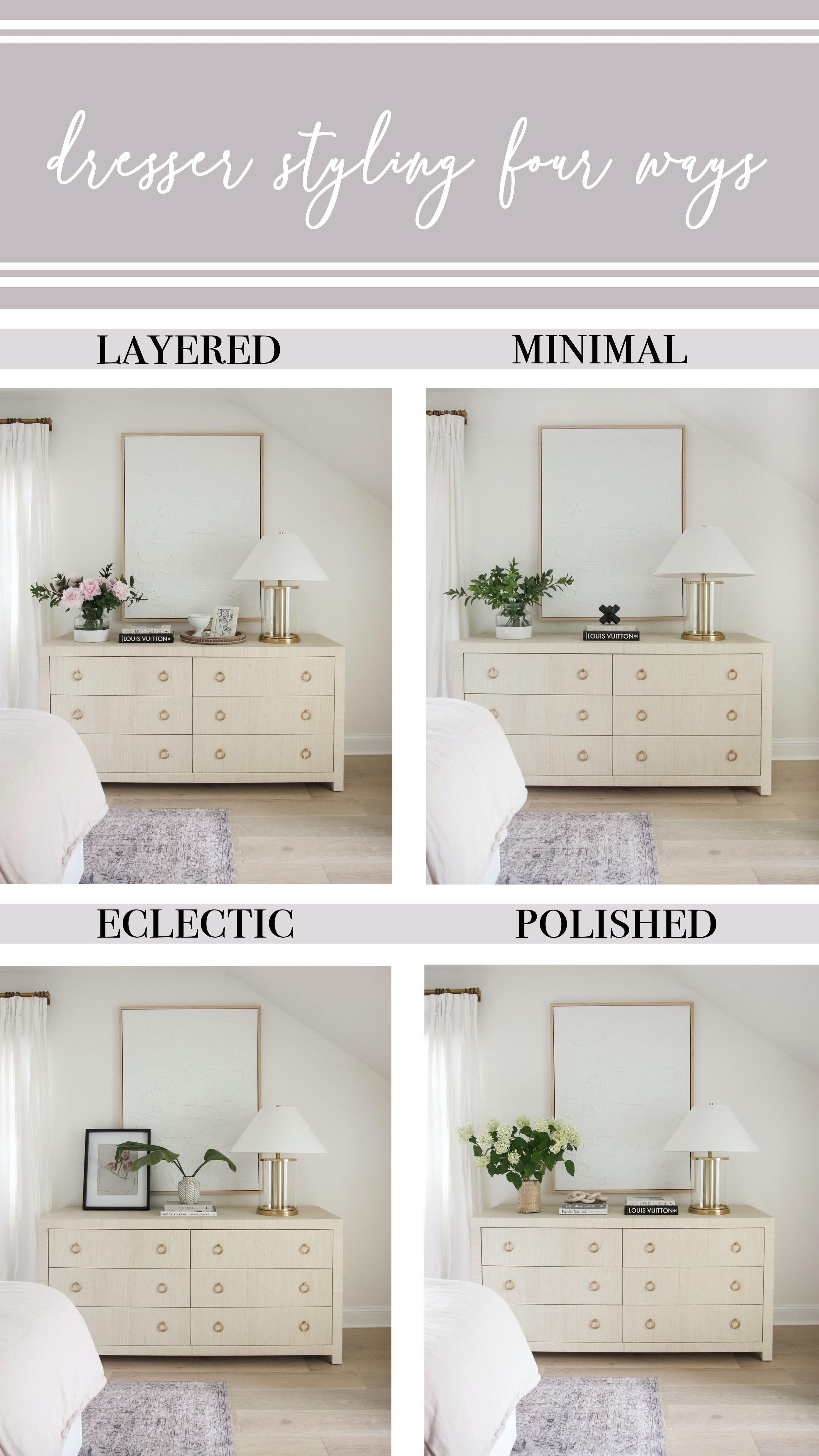 Dresser Styling Four Ways Blushing Boho