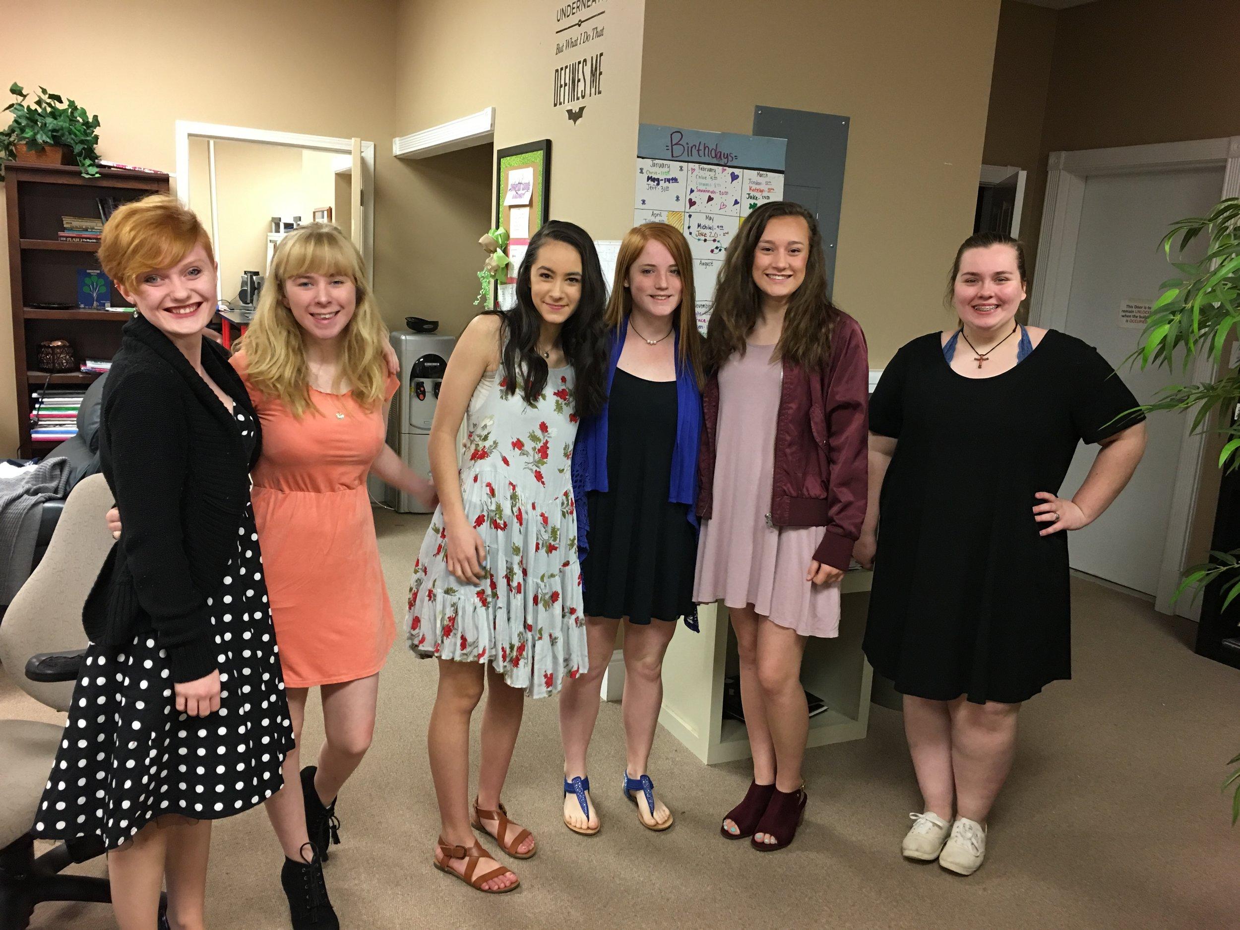 Beautiful high school ladies!