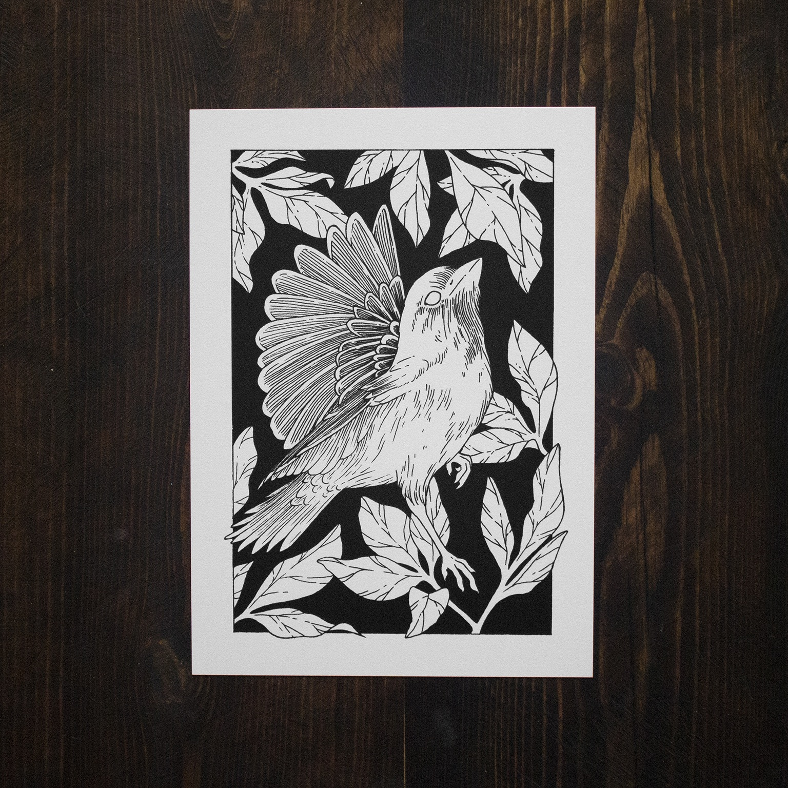 Jenn Sneary Illustration, Wing, floral pen and Ink drawing