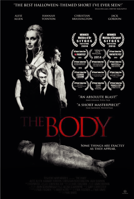 The Body - Story by - A professional killer (Alfie Allen) discovers that he can get away with anything on Halloween, including dragging his latest victim around as a prop amidst a sea of oblivious London party-goers.