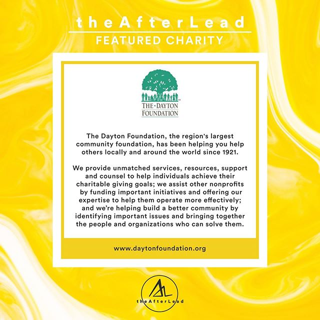 We are excited to have The Dayton Foundation Oregon District Tragedy Fund receive one of our first donations to help support the Oregon District shooting victims and their families. #theafterlead #daytonstrong #gunviolence