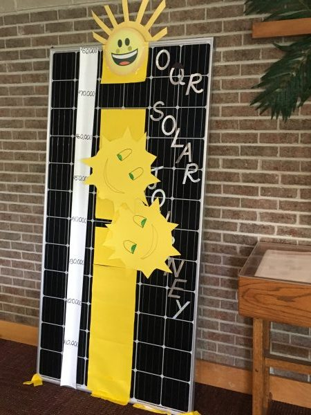 A fun way to show track the solar project fundraising.