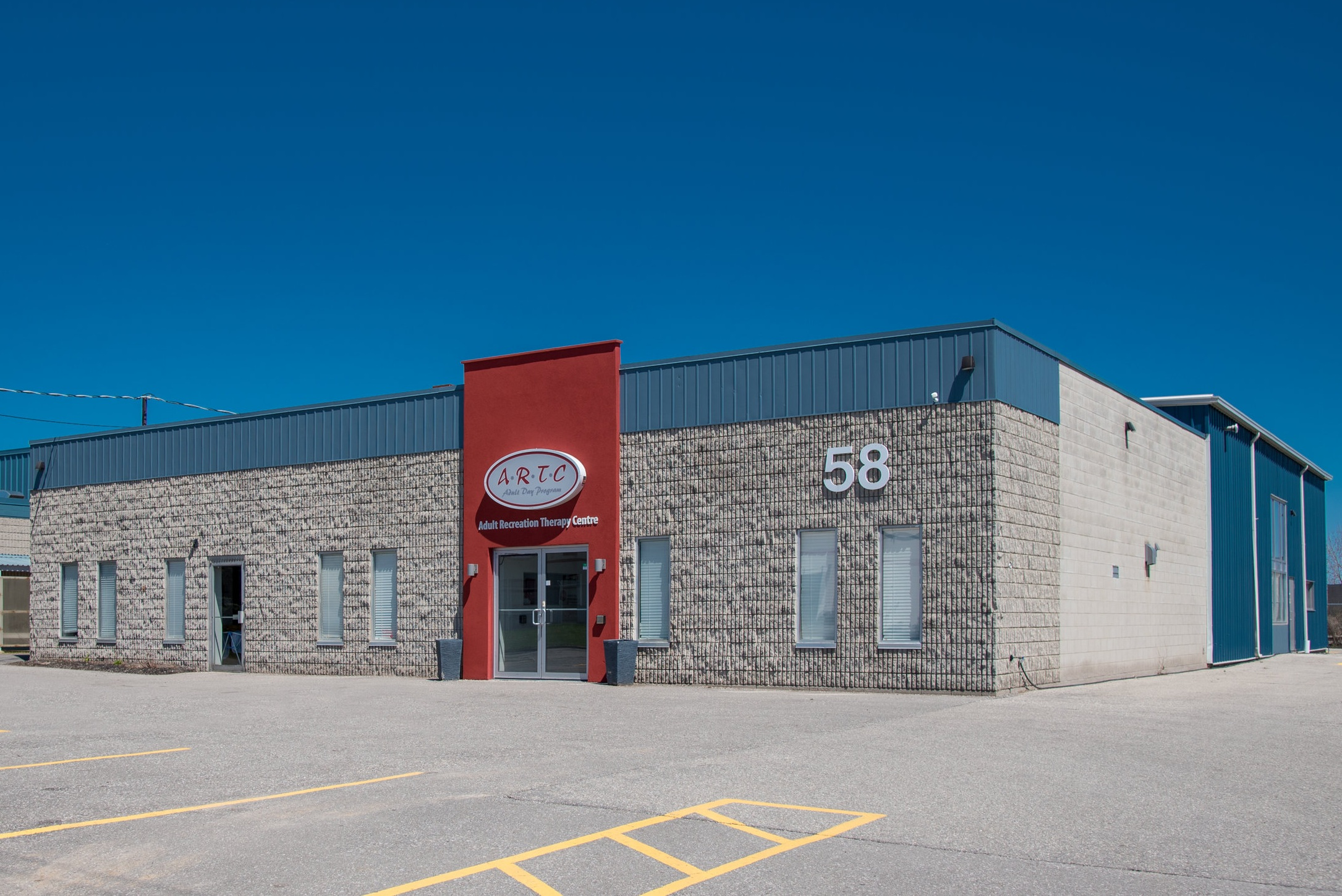 58 Easton Road - Our new open concept facility has many accessible features.We serve 150+ clients and families in Brant County.