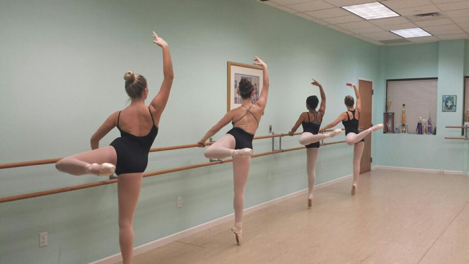 in the studio - See our dancers working hard (and having fun) in our spacious studio!