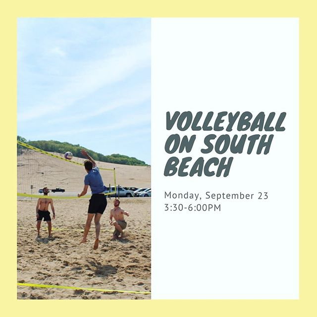 Volleyball tomorrow afternoon! Hope to see you there bumping, setting, and spiking!