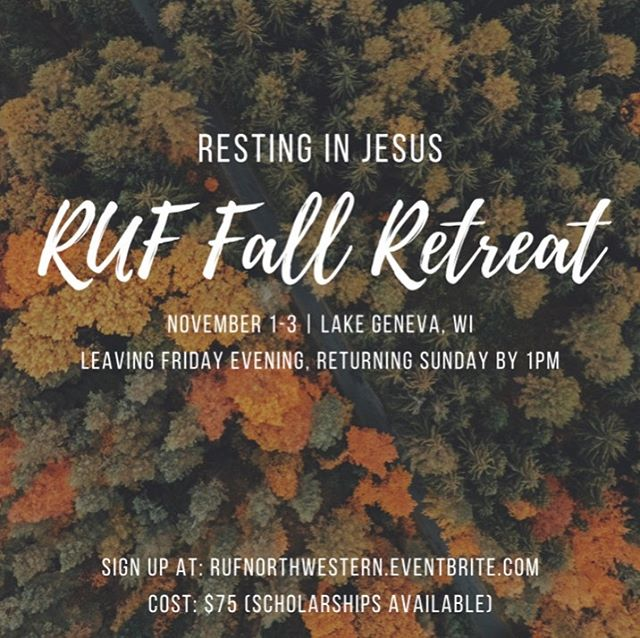 Feeling tired? Needing some rest? Come to fall retreat and learn what it means to rest in Jesus. Bonus: you'll actually get some physical rest as well!  Link in bio to sign up!
