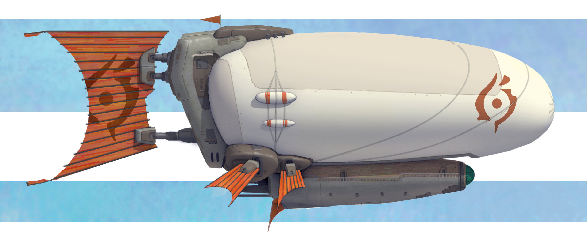 Their main way of transportation are blimps, which serve as war, trade and civilian vessels.