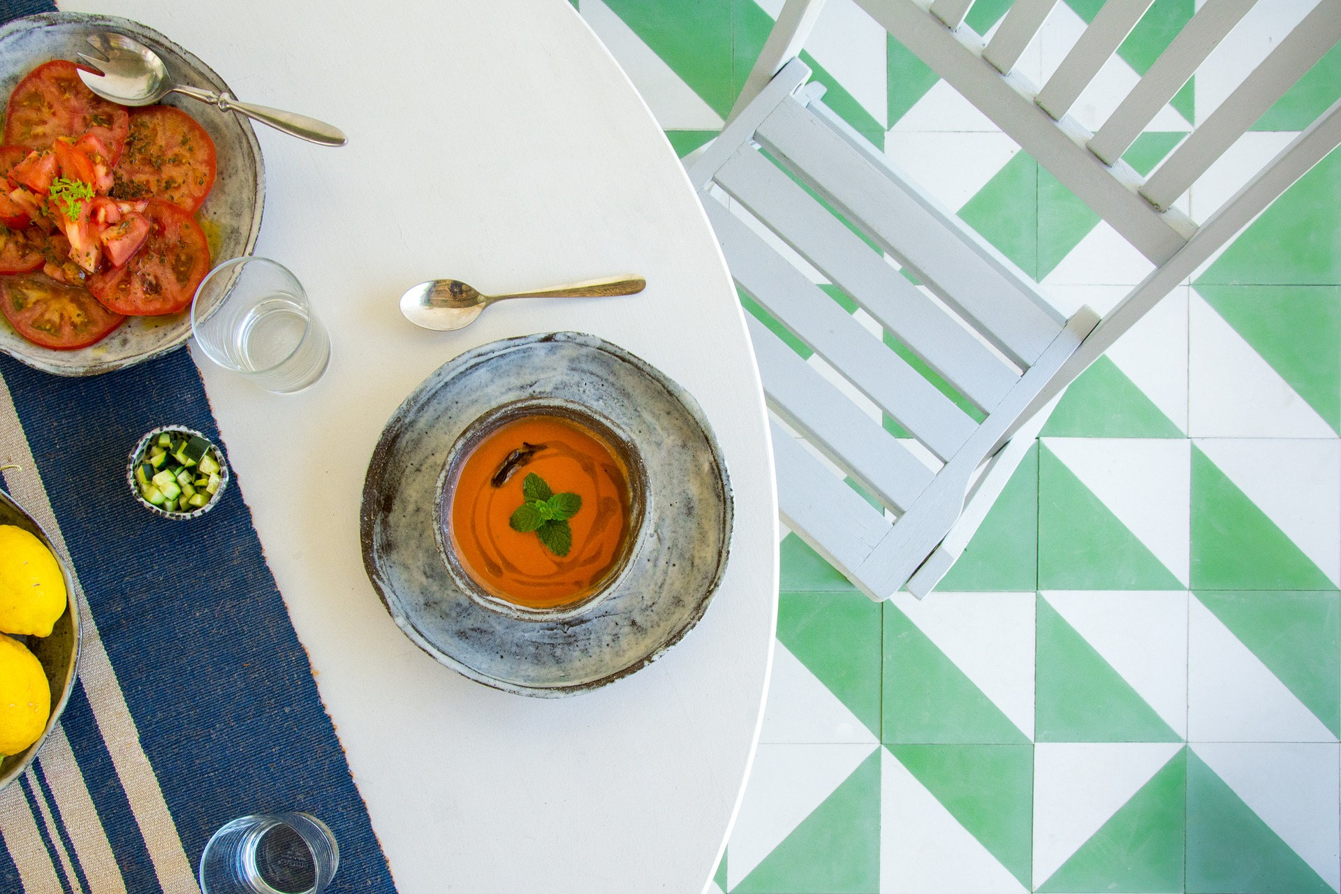Gazpacho - A tasty, easy meal to add to your list.