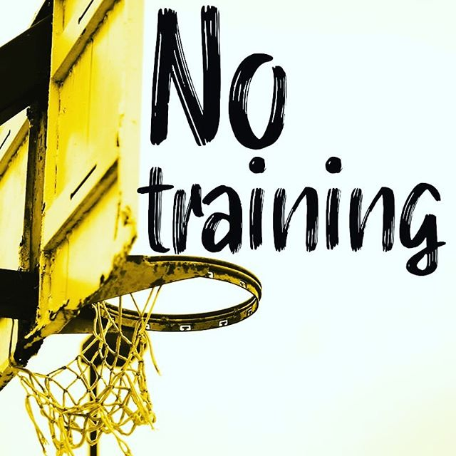 No training tomorrow friends! We will be back on the court Sunday 1 September! 🏀🏀