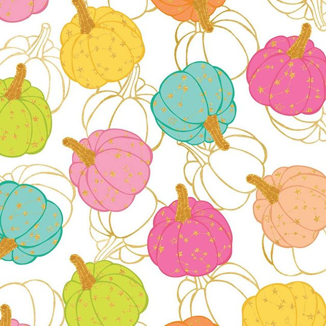 Fall with a side of glam! Loving these glitzy pumpkins from @lbirtel !  #pinklightstudio #art #artlicensing #pinklightdesign #surfacedesign #patterndesign #lindabirtel #pumpkins #fall #falldecor #fallpattern #pumpkinpatch
