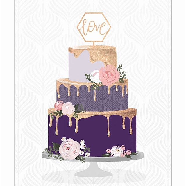 We've never seen a more beautiful wedding cake! Leave it to @loniharris 💁🏼♀️ to deliver rich tones and trendy metallics!  #pinklightstudio #pinklightdesign #art #artlicensing #loniharris #wedding #weddingcake #weddingcard #greetingcard #cakedecorating #cake #love #anniversary